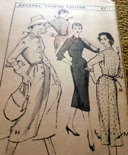 LOVELY VTG 1950s DRESS ADVANCE Sewing Pattern 14/34 FF