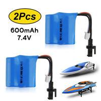 2PCs 7.4V 600mAh Li-ion Battery Pack for Skytech H102 H106 RC Hobby Boat