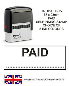 PAID RUBBER STAMP TRODAT 11040 SELF INKING ACCOUNTS BUSINESS OFFICE SHOP HOTEL