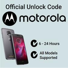 Network Unlock Code Motorola Moto C E4 E5 E6 G5 G6 G7 G8 Plus XT O2 EE Vodafone