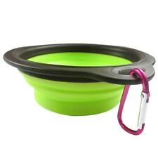 Dog Cat Pet Silicone Collapsible Travel Feeding Bowl Water Dish Feeder J2