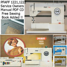 PFAFF 1221, 1222, Service Owners Manual CD + Free Technical Sewing EBook Added !