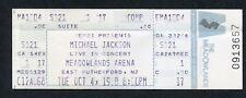 Original 1988 Michael Jackson Unused Full concert ticket Meadowlands NJ Bad Tour