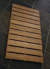 NEW Hard Bamboo Bath Floor Shower Mat Eco No Skid Resistant Bathroom 28 x14