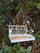 Deluxe Blanc balançoire de jardin Siège Suspendu Mangeoire pour oiseaux table