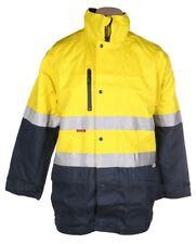 HARD YAKKA 4 in 1 Cotton Drill Jacket 3XL 3M Reflective Tape Yellow High Vis