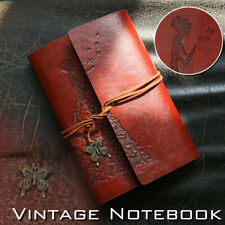 Leather Journal Vintage Spiral Bound Notebook Refillable Dairy Sketchbook US