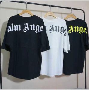Mens Palm Angels Oversize Bat Sleeve Hip hop T-shirt Women Fashion Top Shirts