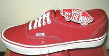 Vans Mens Authentic Lite Canvas Red White Skate Boat shoes Size 11.5 Classic NWT