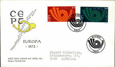 Enveloppe FDC Norvège Norge forstedags BREV 1973 cachet spécial OSLO NORWAY
