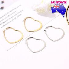 Wholesale 316L Surgical Steel Titanium Anodized Hollow Love Heart Hoop Earrings