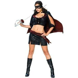 Lady Zorro Sassy Outfit size S Womens Costume Licensed Secret Wishes DEALS