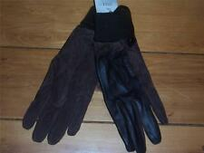 Genuine Brown Suede and Leather Gloves  Size Medium  NEW with tag
