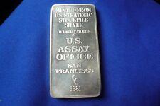 1981 US Assay Office Strategic Stockpile San Francisco 999 Silver 10 oz Bar 137