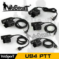 Z-Tactical U94 PTT Headset Military Adapter Cable for Radios MT KW IC ML PH Plug