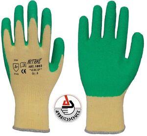 MAXI GRIP von NITRAS® Arbeitshandschuh Handschuh Garten Gerüstbau 1603