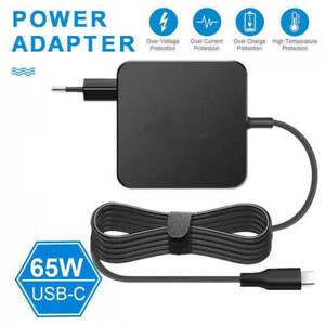 65W Type-C USB-C AC Adapter Charger Power Supply EU Plug