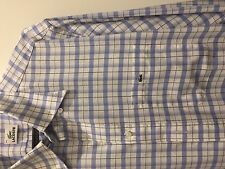 Lacoste blue white check shirt size 43 - extra large XL very good condition