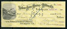 US THE NATIONAL BANK OF CALIFORNIA OF LOS ANGELES, CA CANCELLED CHECK 3/25/1903