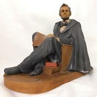 Vintage 1993 Abraham Lincoln Sculpture Statue Tom Clark Gnome Signed #48