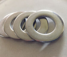 "Stainless Steel Flat Washers 1.72""OD x 0.99""ID x ~1/8"" thick, 20pc"