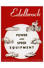 new hot rod Poster 11x17 Edelbrock Speed and Power Equipment drag race