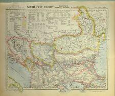 1882 LETTS MAP SOUTH EAST EUROPE ROUMANIA TURKEY SERVIA WALLACHIA BULGARIA