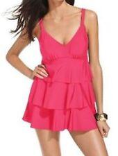 Swim Solutions 3 Tier Swimdress Sz 8 Rose Pink Tummy Control Swimsuit 502503