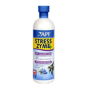 API Stress Zyme + Aqua Aquarium Fish Tank Filter Water Sludge Cleaner 473ml