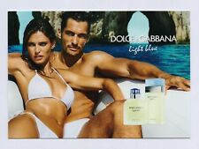 DOLCE & GABBANA - light blue --- Carte parfumée perfume card avec 2 patch (x)