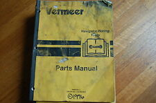 Vermeer Navigator Boring Tool Parts Manual Book Catalog List Horizontal Drill
