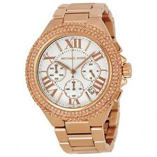 MICHAEL KORS CAMILLE CHRONOGRAPH DATE CRYSTALS ROSE-GOLD LADIES WATCH MK5636 NEW