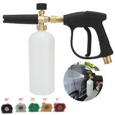 """1/4"""" Snow Foam Washer Gun Car Wash Lance Cannon Spray High Pressure Jet Bottle"""