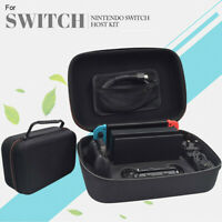 Plain Black EVA Tough Case Pouch Travel Carry Bag for Nintendo Switch Console