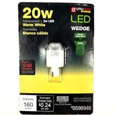 UTILITECH 2W LED 20W Replacement Warm White 12V Wedge Light Bulb 160 Lumens New