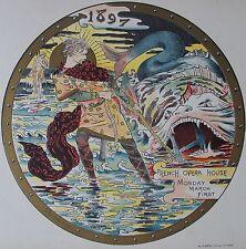 ROCHEGROSSE : FRENCH OPERA . LITHOGRAPHIE 1897 , PROGRAMMES ILLUSTRéS , MAINDRON