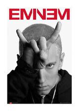 Quadro su pannello in legno MDF Eminem Horns Misura 60x90 CM