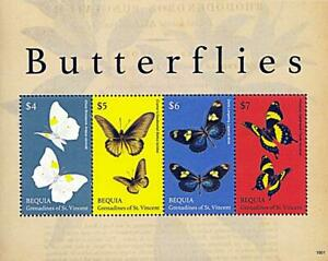 👉 ST.VINCENT/BEQUIA = BUTTERFLIES // INSECTS M/S MNH **