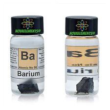 Barium Metal Element 56 Ba sample 1 gram 99,6% in labeled glass vial
