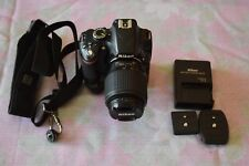 NIKON D3200 CAMERA w/ NIKON 55-200mm LENS AND POLAROID PERFORM GRIP PLGR18D3100