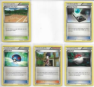 Pokemon Set of Trainer Cards (10) B&W  Boundaries Crossed