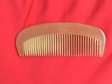 """3.9"""" STURDY TRAVEL SIZED MEDIUM TOOTHED OX HORN COMB - CUTE! COMBINE SHIPPING!"""