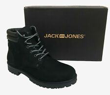 Jack & Jones Herren Schuhe Leder Stiefel Stiefeletten Stoke Boots Nubuk Black 44