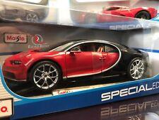 Maisto 1:18 Scale -Special Edition Diecast Model - Bugatti Chiron (Red/Black)