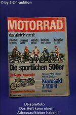 Motorrad 8/78 Honda CB & CX Ducati 500 Yamaha XS Kawa Z
