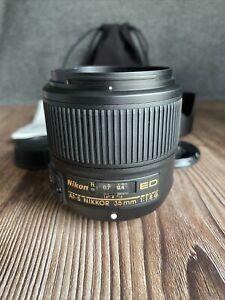 """Nikon AF-S NIKKOR 35mm f/1.8G ED Lens """"Excellent Condition"""""""
