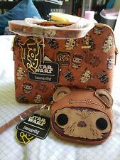 Ewok Pop Star Wars Loungefly Crossbody Purse Bag & Wicket Wristlet