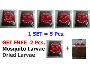 High Protein Betta Food Mosquito Larva SET= Buy 5 pcs. get free 1 pcs.and dried