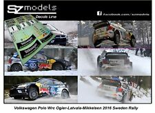 1/43 Rally Decal Additif Vw Polo Wrc Ogier Latvala Mikkelsen Sweden 2016 no ixo