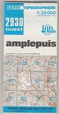 Carte Topographique IGN Amplepuis 2930 Ouest